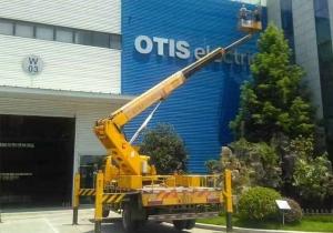公司外墙LOGO安装-高空作业车